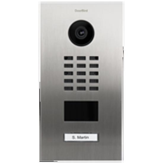 Picture of Video porteiro IP/SIP em aço inoxidável escovado prata · 1 botão